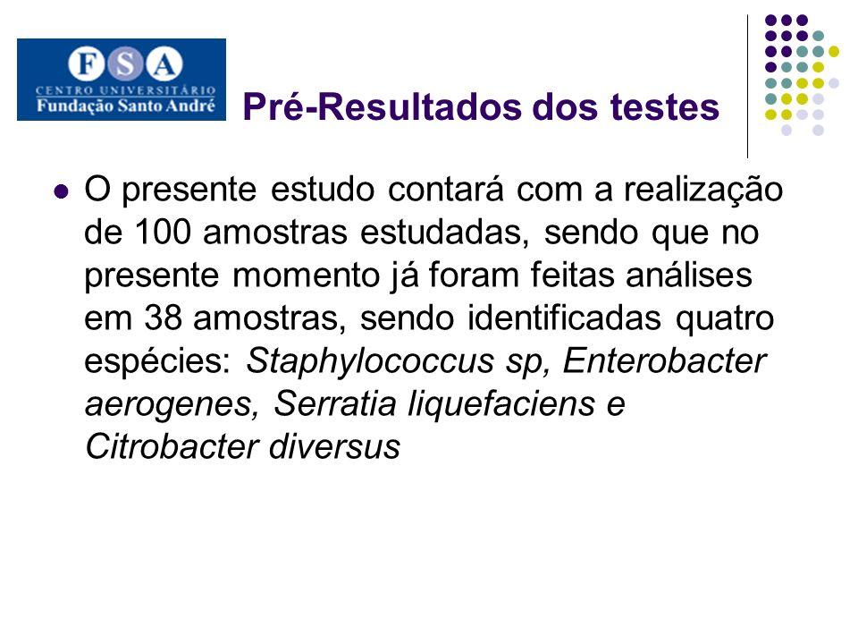 Pré-Resultados dos testes