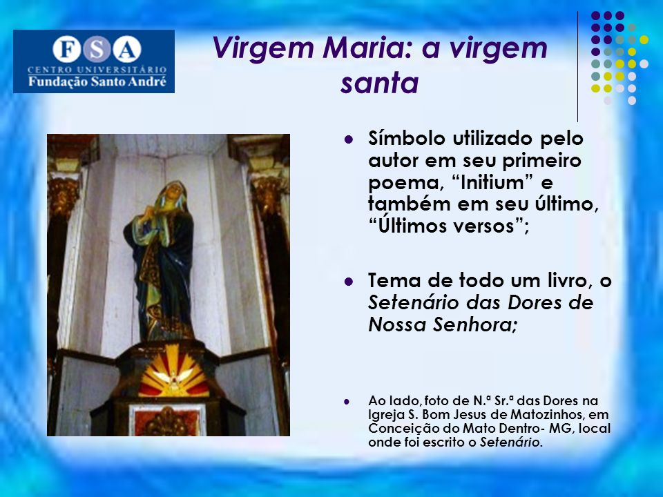Virgem Maria: a virgem santa