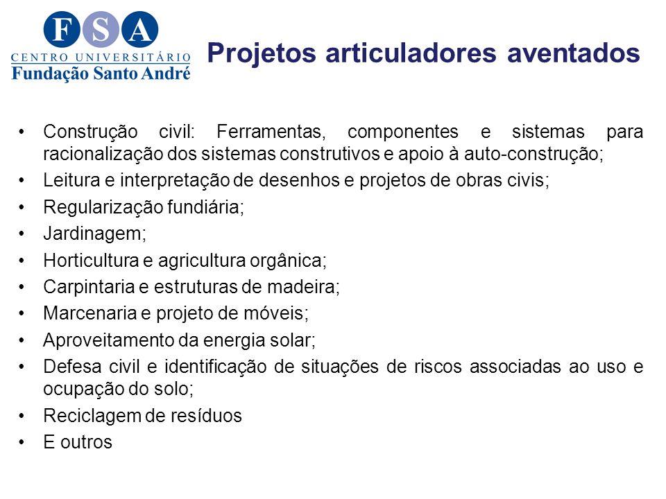 Projetos articuladores aventados