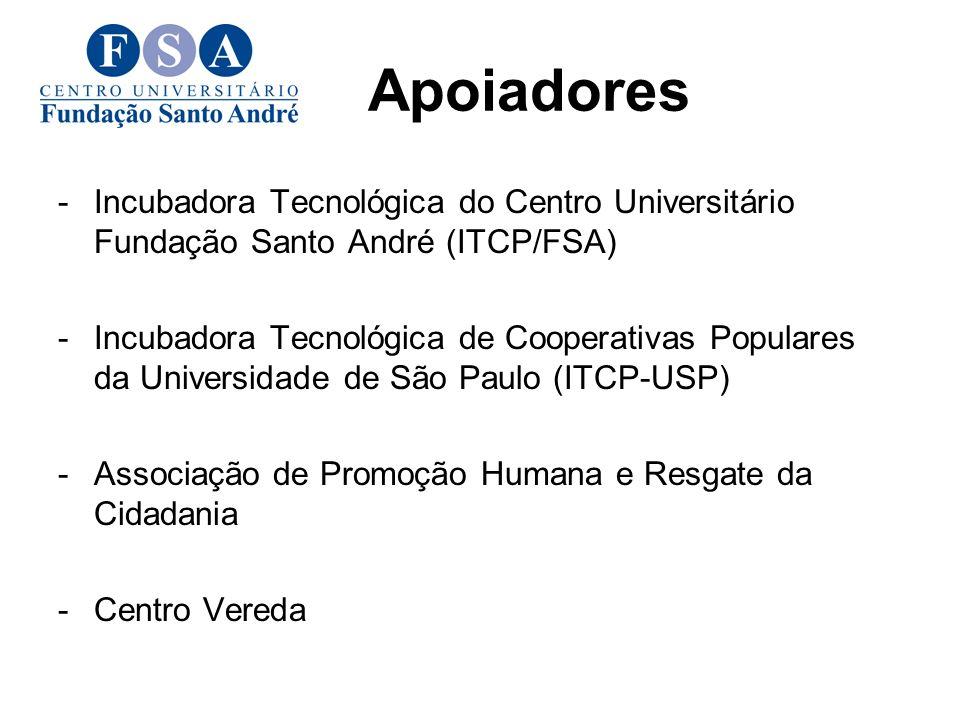 Apoiadores Incubadora Tecnológica do Centro Universitário Fundação Santo André (ITCP/FSA)