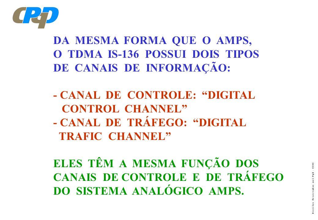 DA MESMA FORMA QUE O AMPS,