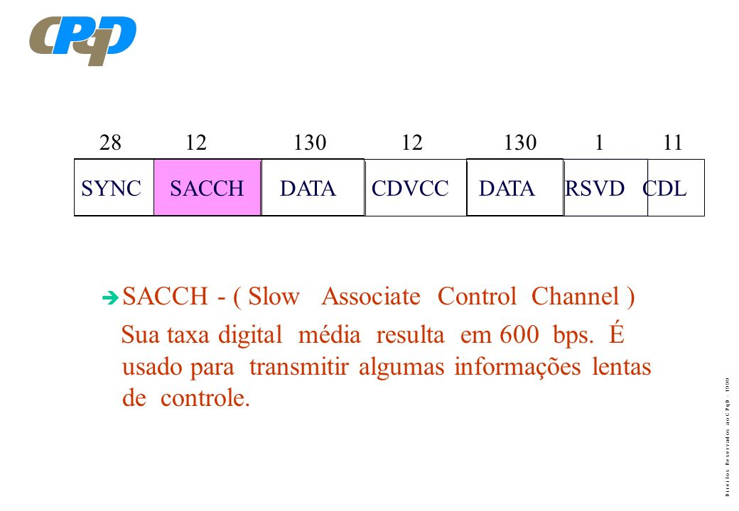 SACCH - ( Slow Associate Control Channel )