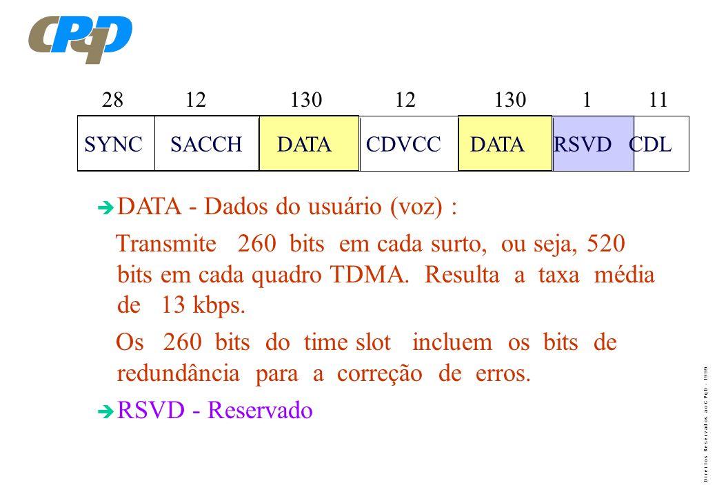 DATA - Dados do usuário (voz) :