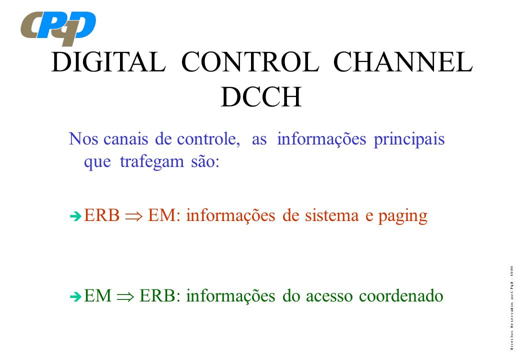 DIGITAL CONTROL CHANNEL DCCH