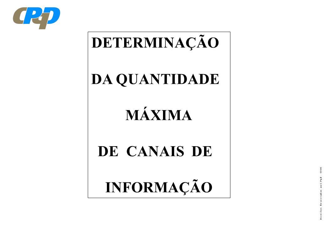 DETERMINAÇÃO DA QUANTIDADE MÁXIMA DE CANAIS DE INFORMAÇÃO