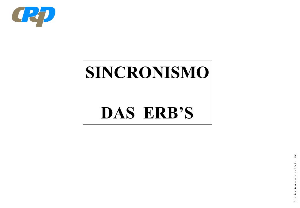 SINCRONISMO DAS ERB'S