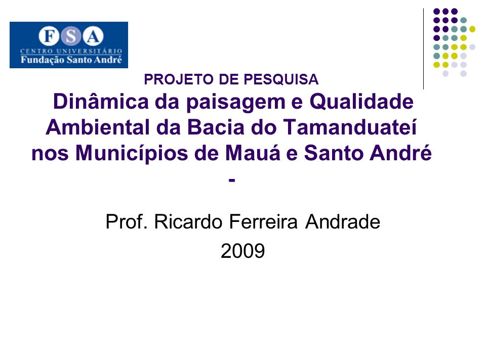 Prof. Ricardo Ferreira Andrade 2009