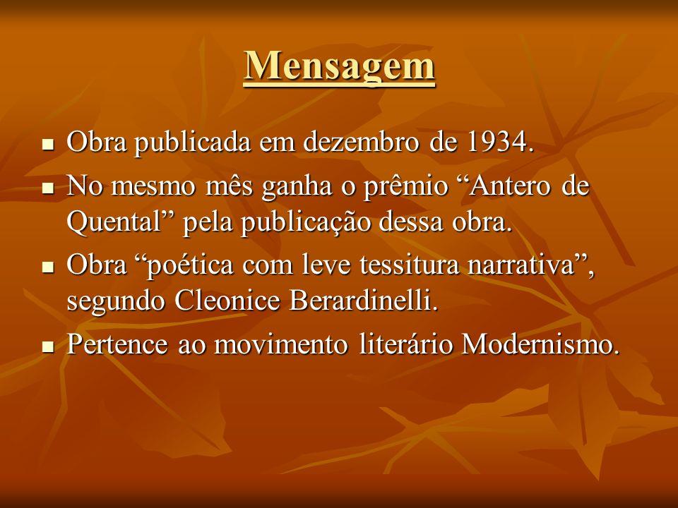 Mensagem Obra publicada em dezembro de 1934.