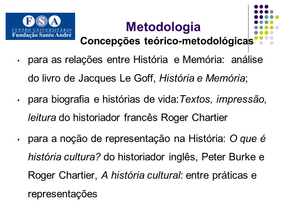 Concepções teórico-metodológicas