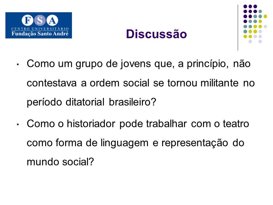 Discussão Como um grupo de jovens que, a princípio, não contestava a ordem social se tornou militante no período ditatorial brasileiro