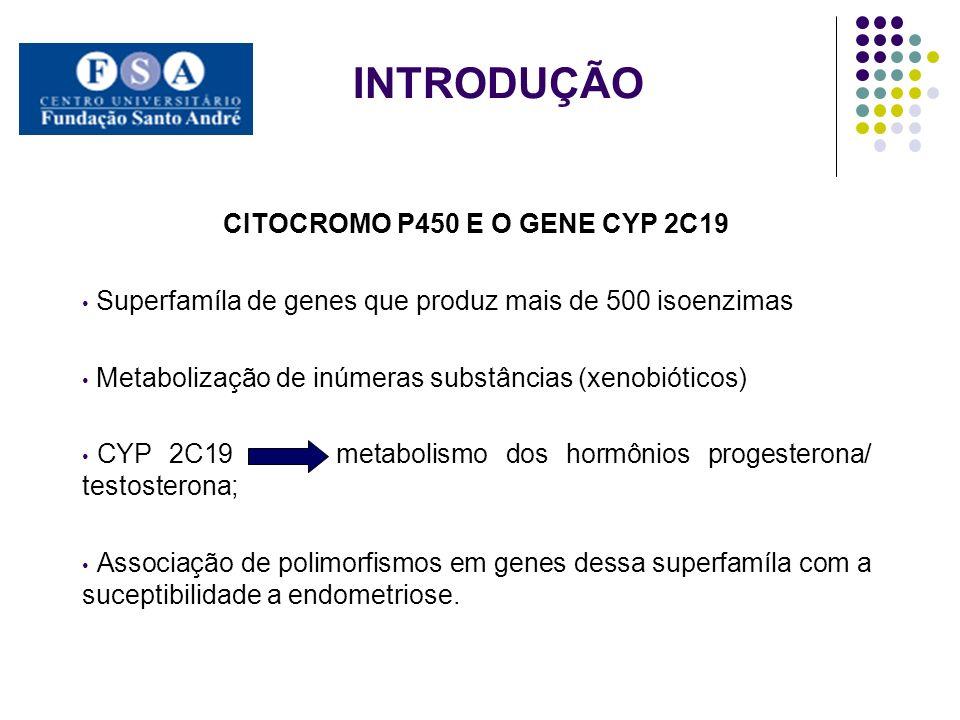 CITOCROMO P450 E O GENE CYP 2C19