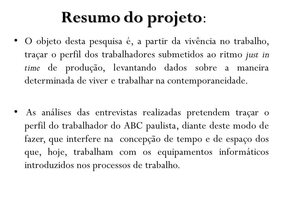Resumo do projeto: