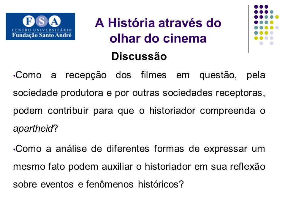 A História através do olhar do cinema