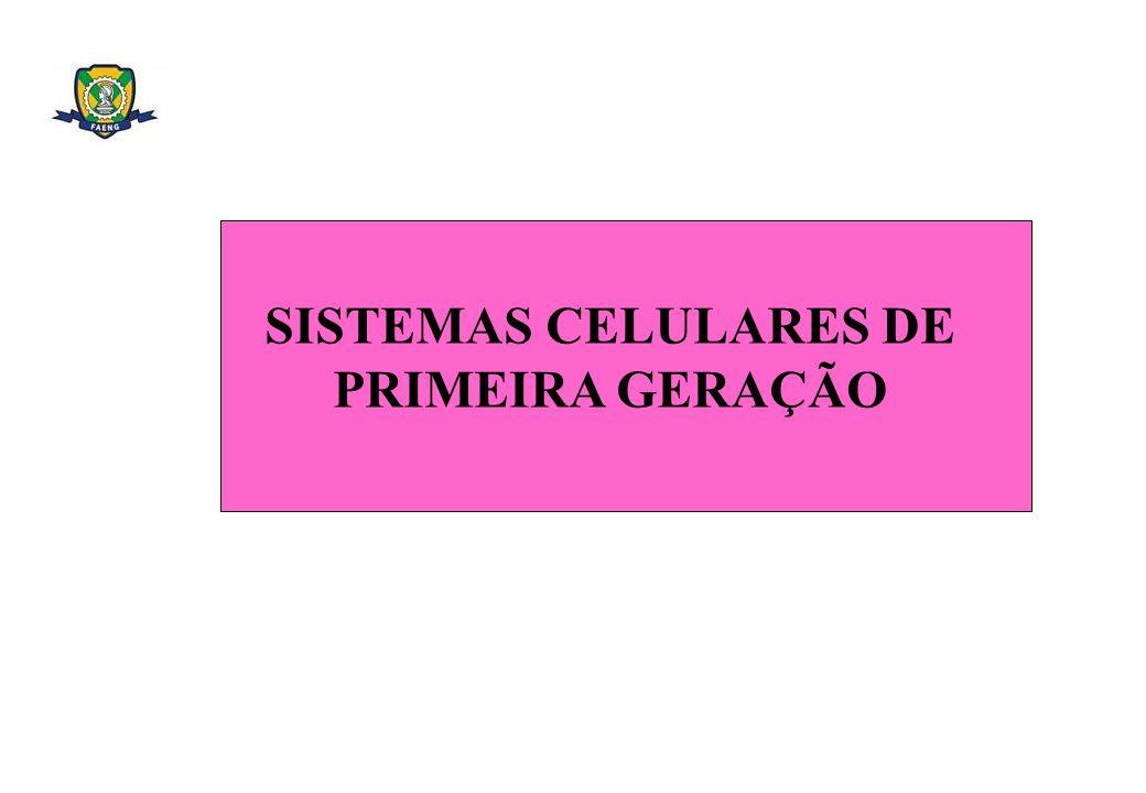 SISTEMAS CELULARES DE PRIMEIRA GERAÇÃO