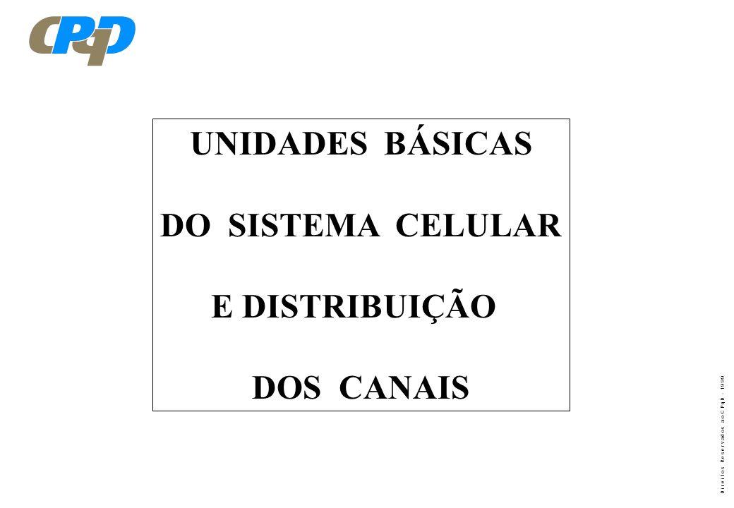 UNIDADES BÁSICAS DO SISTEMA CELULAR E DISTRIBUIÇÃO DOS CANAIS