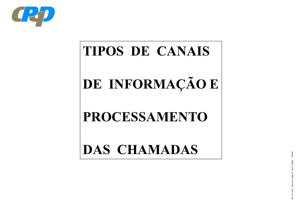 TIPOS DE CANAIS DE INFORMAÇÃO E PROCESSAMENTO DAS CHAMADAS