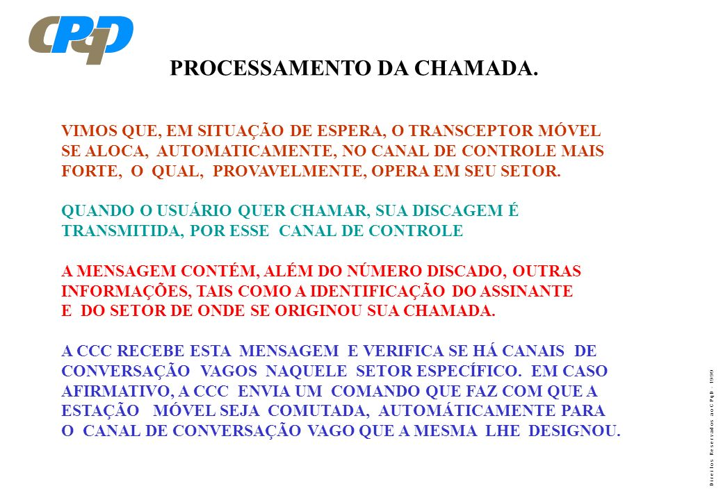 PROCESSAMENTO DA CHAMADA.