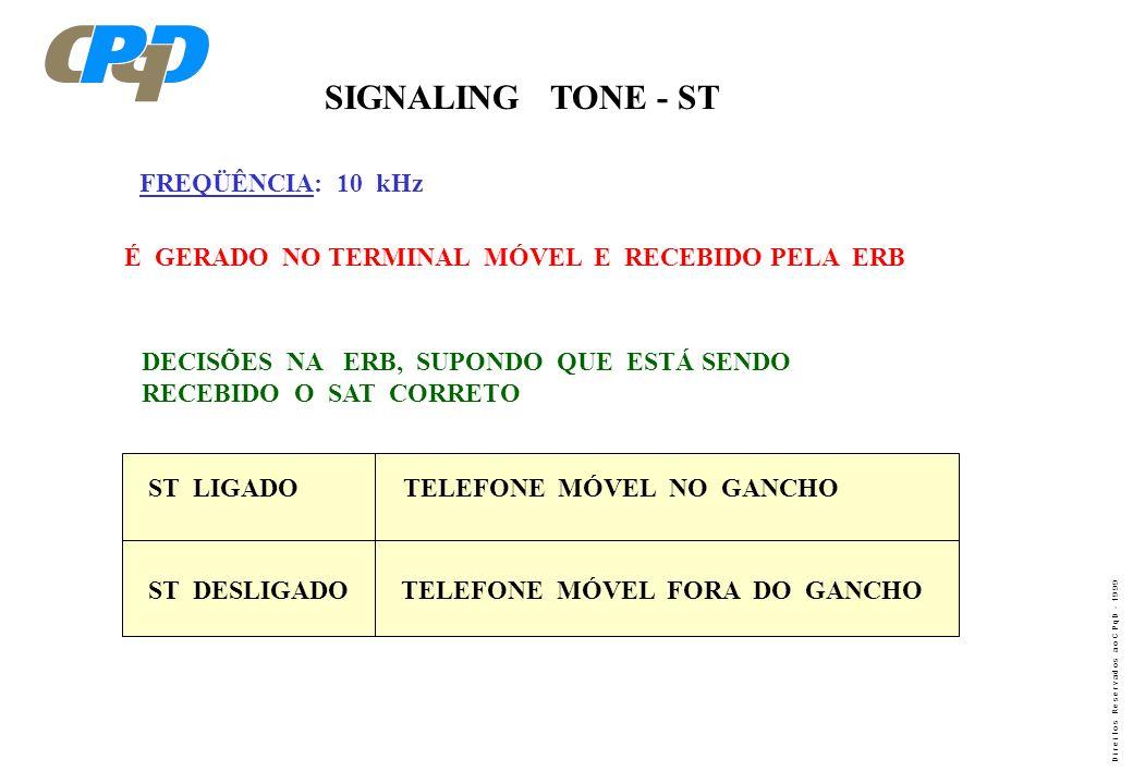 SIGNALING TONE - ST FREQÜÊNCIA: 10 kHz