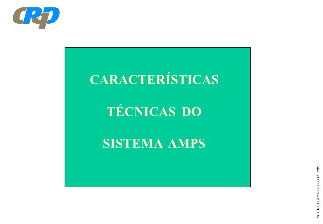 CARACTERÍSTICAS TÉCNICAS DO SISTEMA AMPS