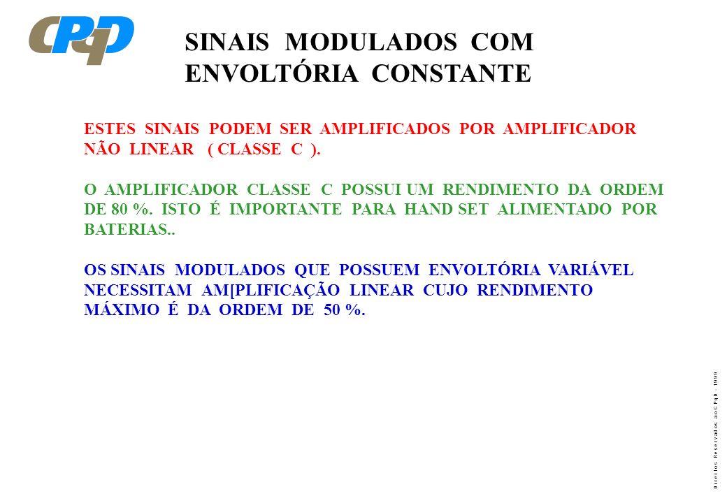 SINAIS MODULADOS COM ENVOLTÓRIA CONSTANTE