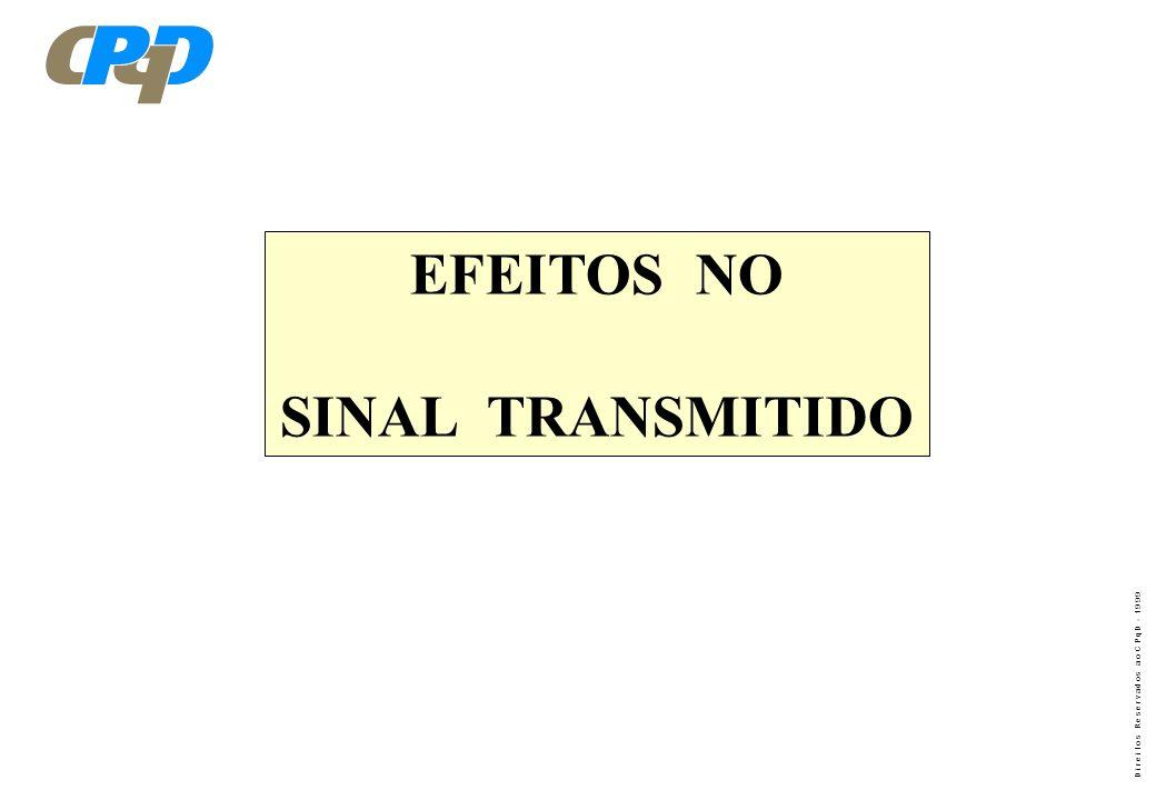 EFEITOS NO SINAL TRANSMITIDO