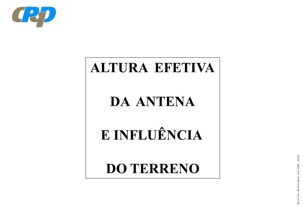 ALTURA EFETIVA DA ANTENA E INFLUÊNCIA DO TERRENO