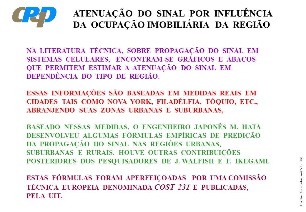 ATENUAÇÃO DO SINAL POR INFLUÊNCIA DA OCUPAÇÃO IMOBILIÁRIA DA REGIÃO