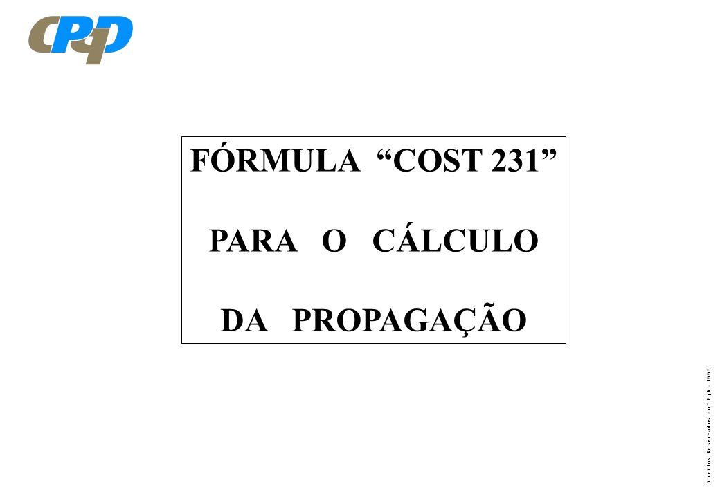 FÓRMULA COST 231 PARA O CÁLCULO DA PROPAGAÇÃO