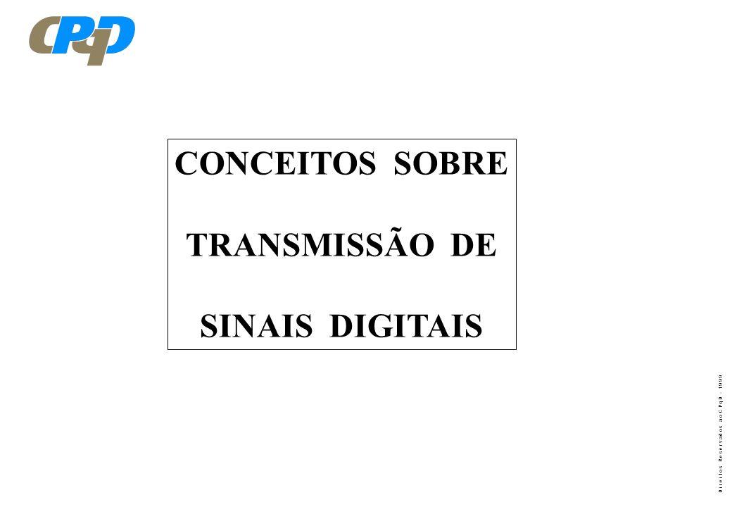 CONCEITOS SOBRE TRANSMISSÃO DE SINAIS DIGITAIS