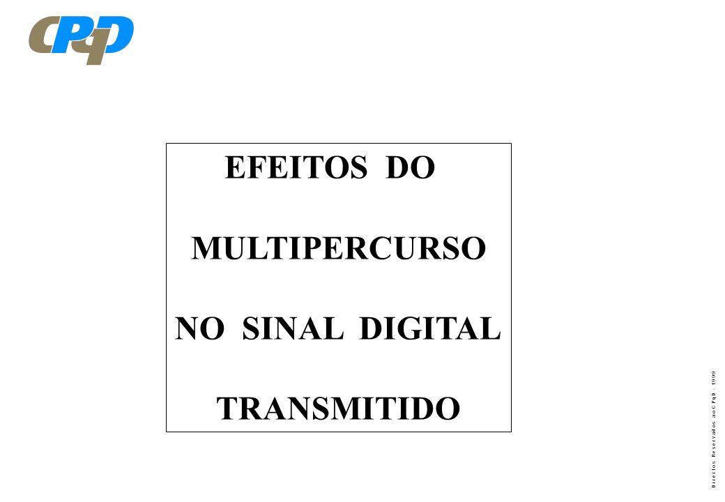 EFEITOS DO MULTIPERCURSO NO SINAL DIGITAL TRANSMITIDO