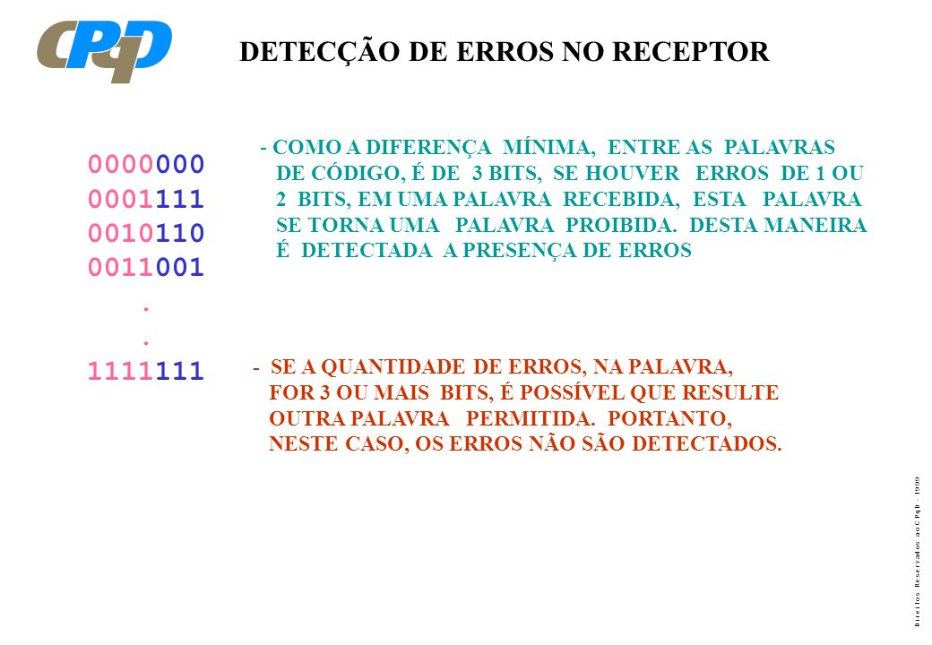 DETECÇÃO DE ERROS NO RECEPTOR