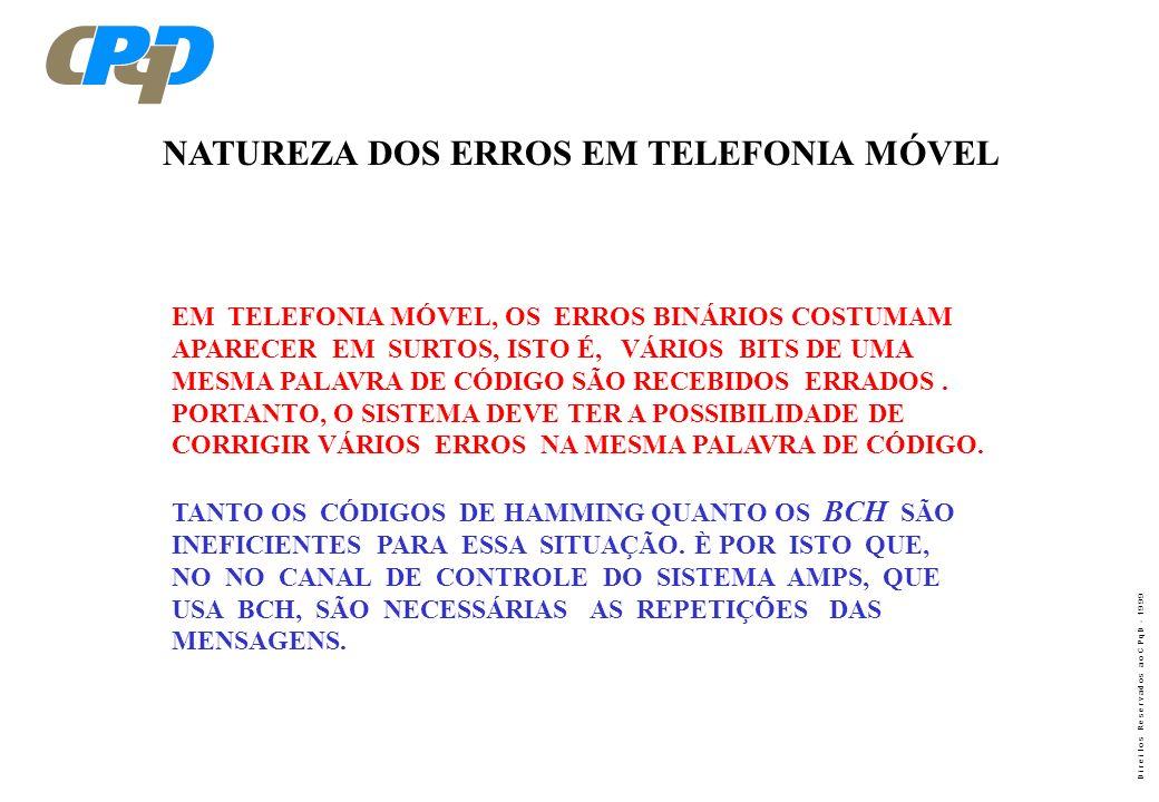 NATUREZA DOS ERROS EM TELEFONIA MÓVEL