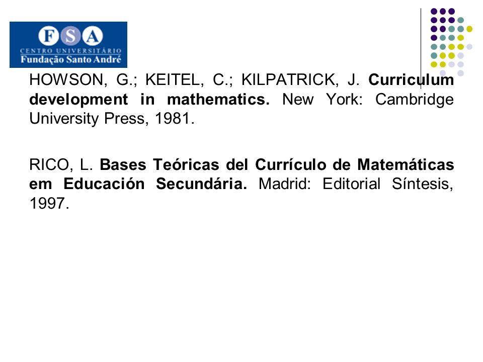 HOWSON, G. ; KEITEL, C. ; KILPATRICK, J