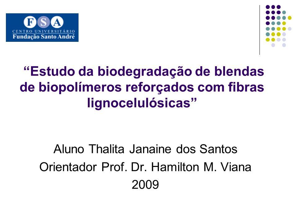 Estudo da biodegradação de blendas de biopolímeros reforçados com fibras lignocelulósicas