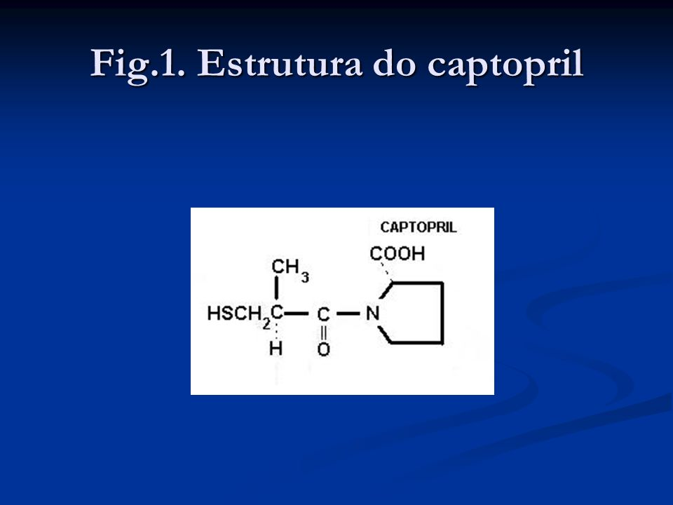 Fig.1. Estrutura do captopril