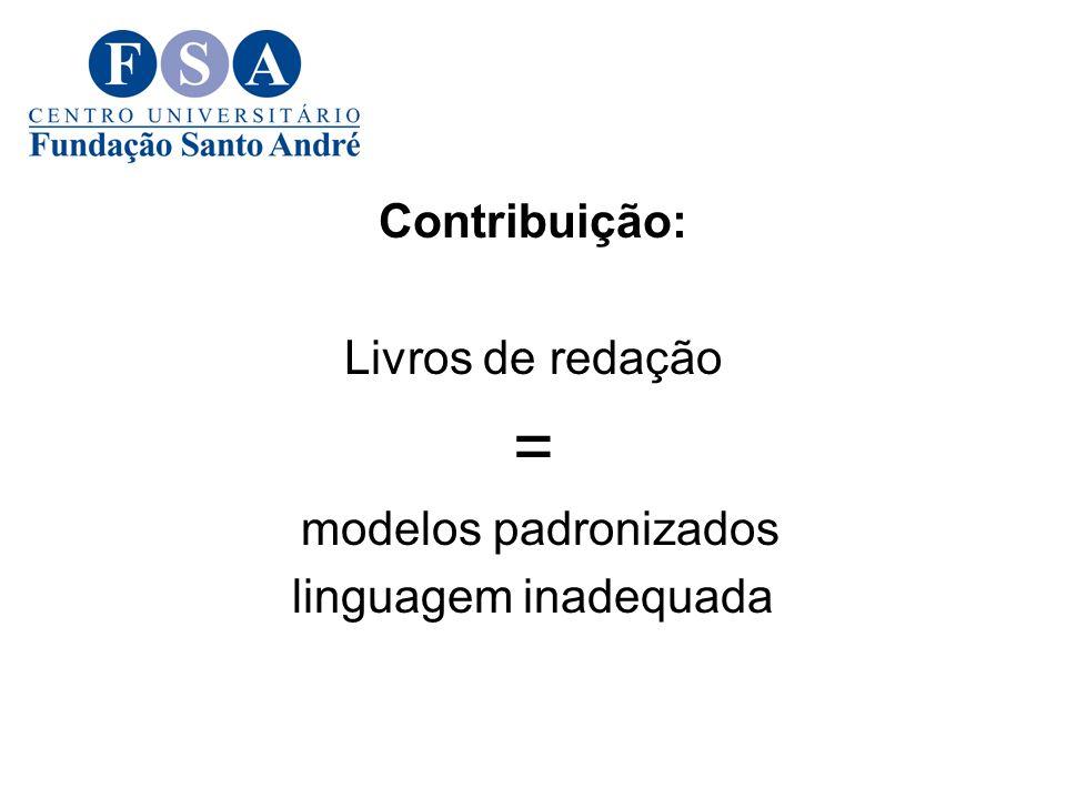 = Contribuição: Livros de redação modelos padronizados