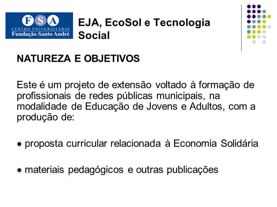 EJA, EcoSol e Tecnologia Social