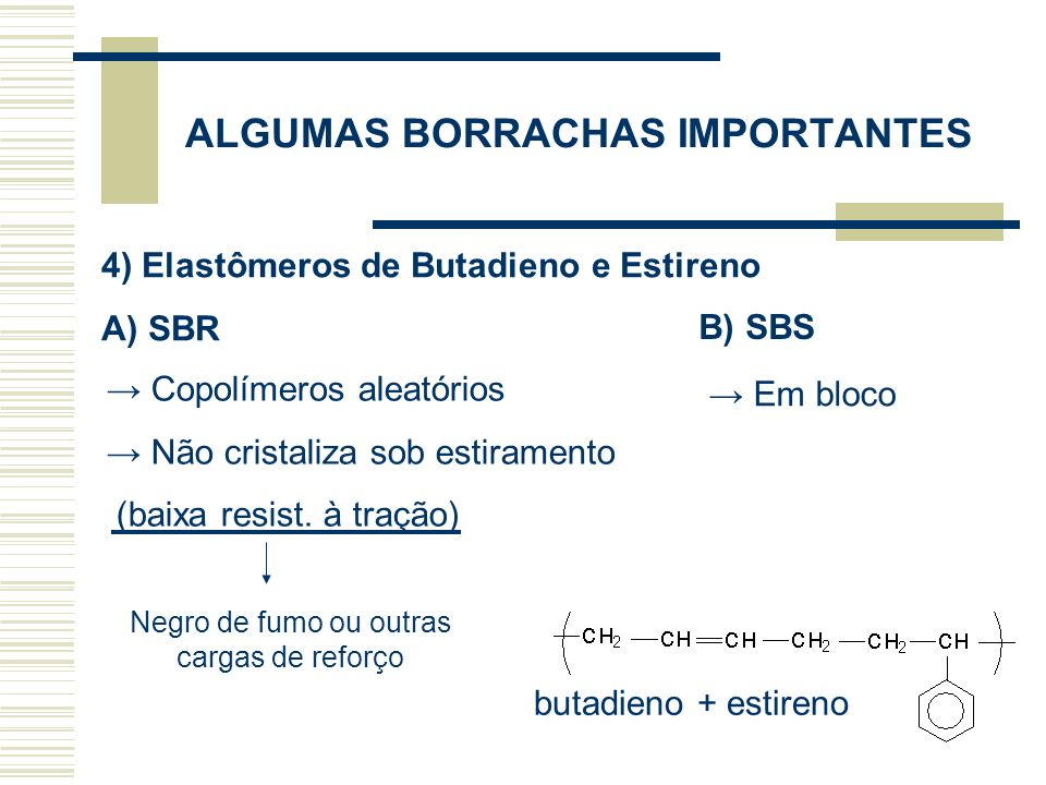 ALGUMAS BORRACHAS IMPORTANTES