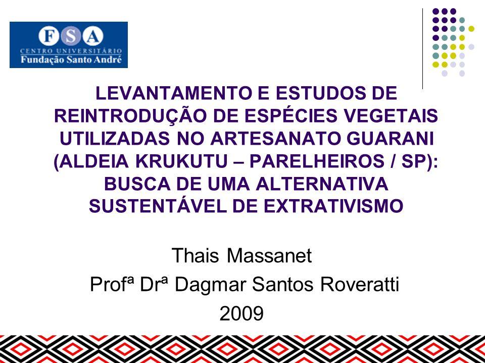 Thais Massanet Profª Drª Dagmar Santos Roveratti 2009