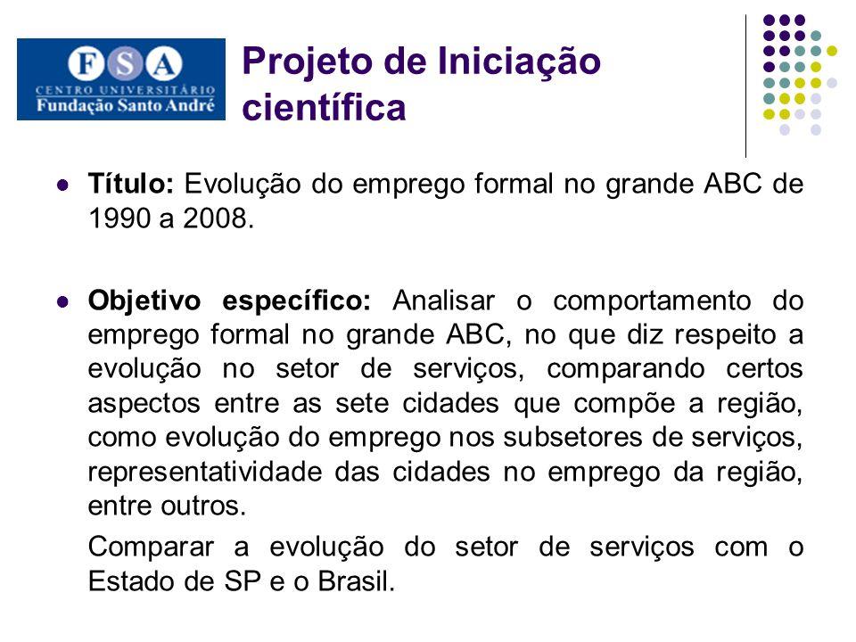 Projeto de Iniciação científica