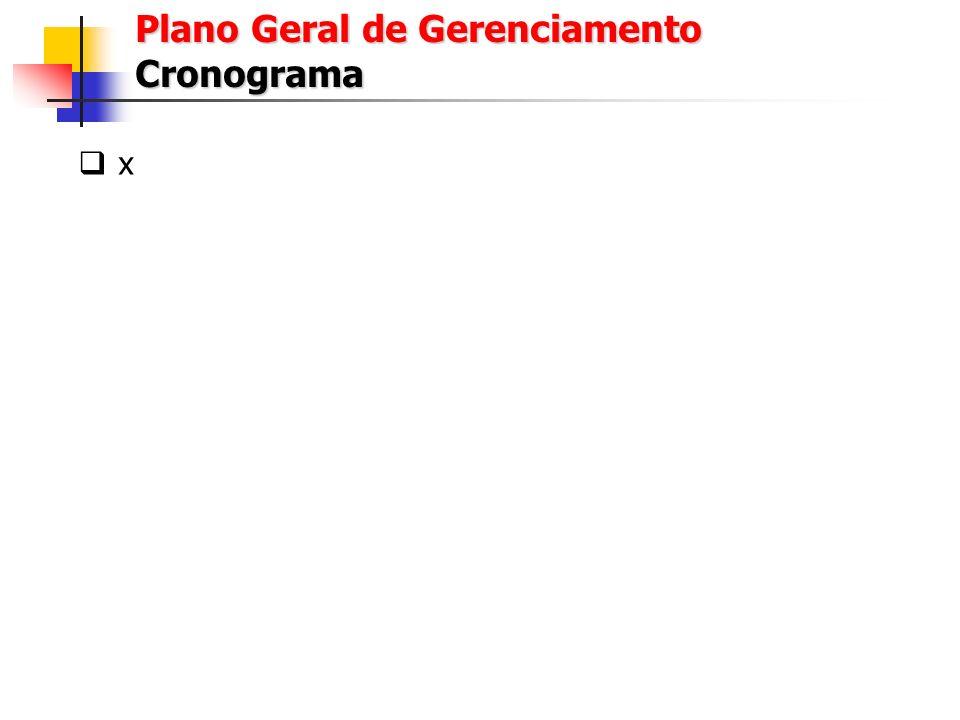 Plano Geral de Gerenciamento Cronograma
