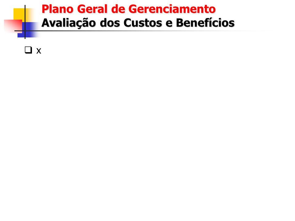 Plano Geral de Gerenciamento Avaliação dos Custos e Benefícios