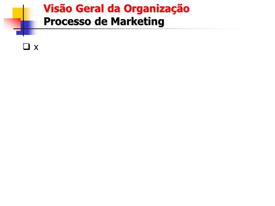 Visão Geral da Organização Processo de Marketing