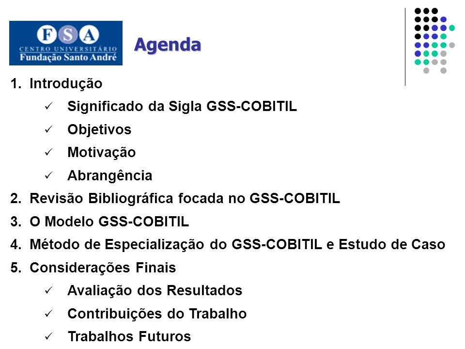 Agenda Introdução Significado da Sigla GSS-COBITIL Objetivos Motivação
