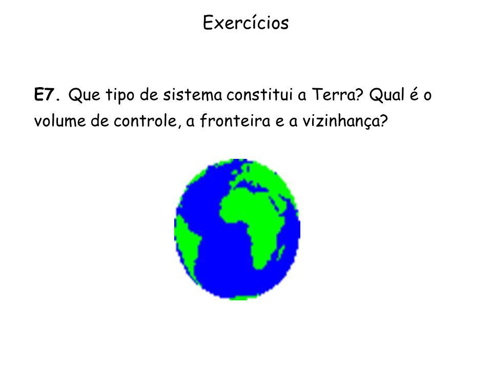 Exercícios E7. Que tipo de sistema constitui a Terra.
