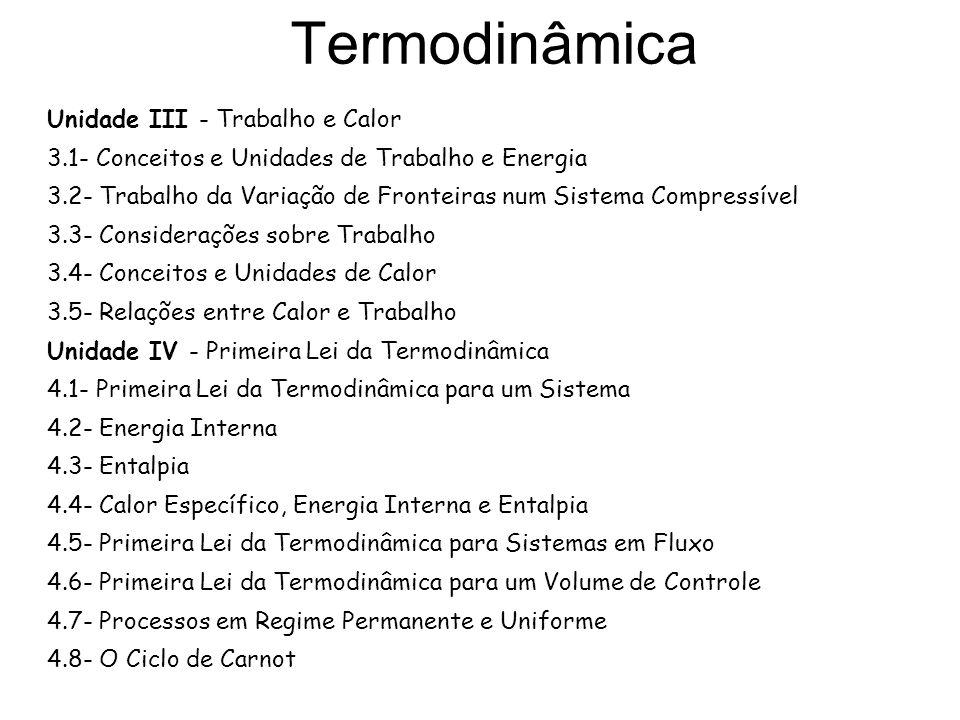 Termodinâmica Unidade III - Trabalho e Calor