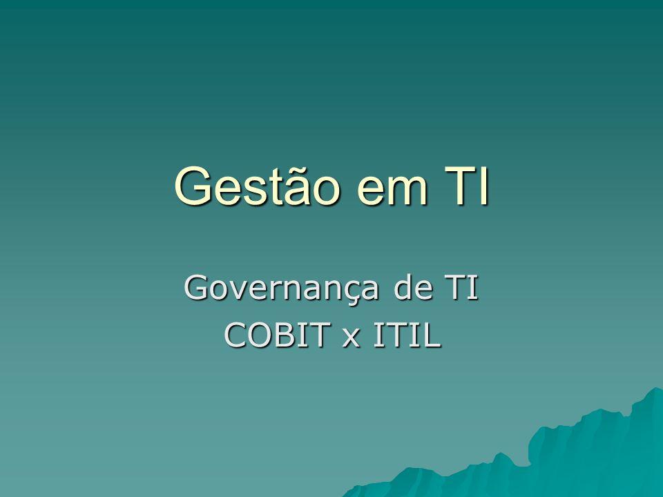 Governança de TI COBIT x ITIL