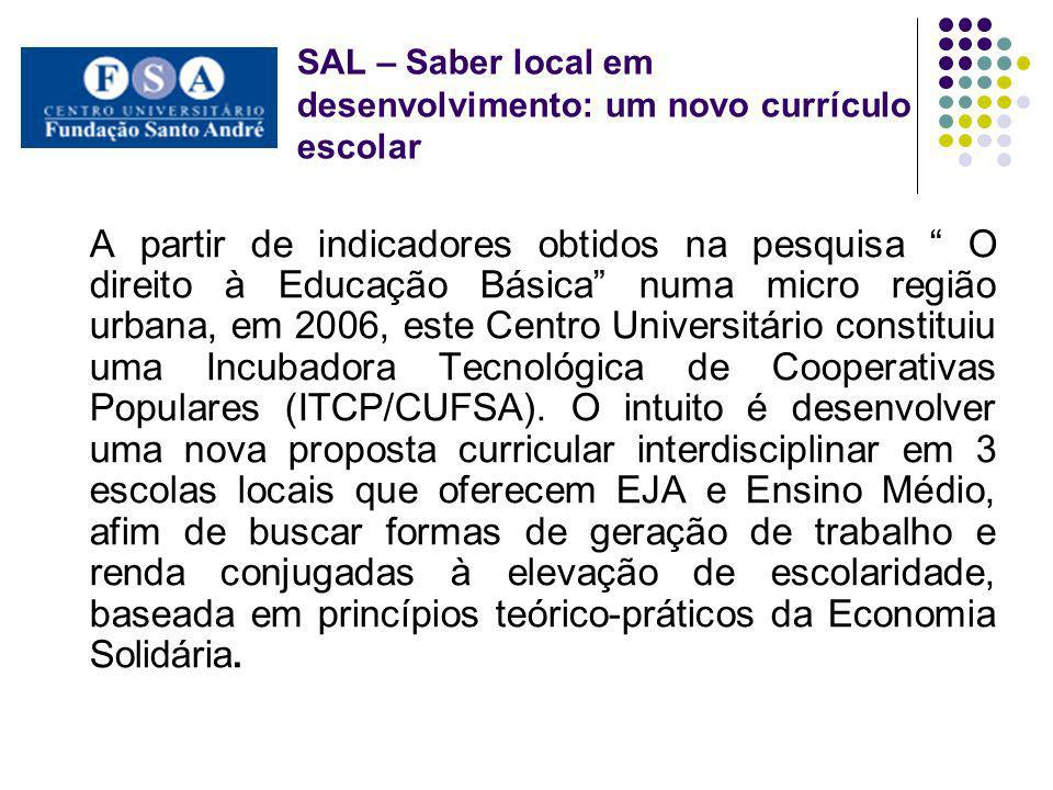 SAL – Saber local em desenvolvimento: um novo currículo escolar