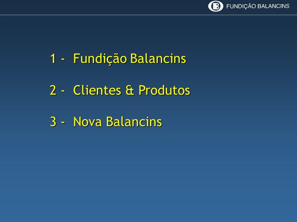 1 - Fundição Balancins 2 - Clientes & Produtos 3 - Nova Balancins