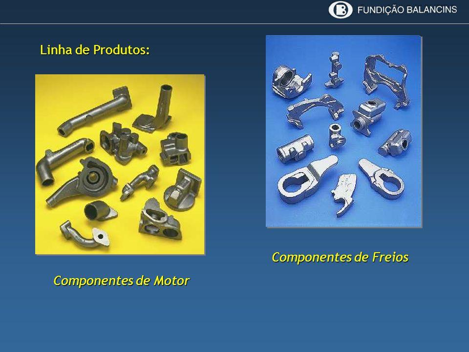 Linha de Produtos: Componentes de Freios Componentes de Motor